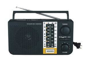 Mini Portable AM/FM/SW1/SW2/TV 5 Bands Radio with Built-In SD & USB Inputs