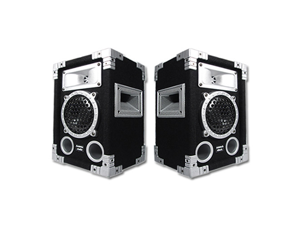 Acoustic Audio GX-350 PA Karaoke DJ Speakers 2-Way Pair Home Audio Monitors