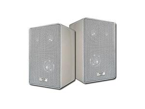 Acoustic Audio 251W Indoor Outdoor 3 Way Speakers 400 Watt White Pair New