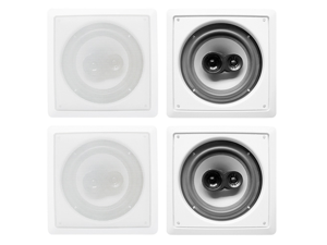 "Acoustic Audio CS-I63S In Wall / Ceiling 6.5"" Speakers 2 Pair Pack 3 Way 1200 Watt CS-I63S-2Pr"