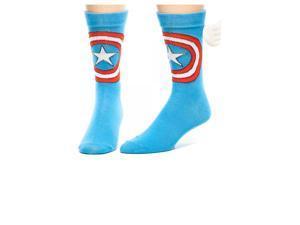 Marvel Captain America w/ Wings Crew Socks