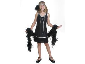 Child Black Sequin and Fringe Flapper Costume