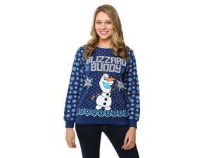 Frozen Olaf Blizzard Buddy Juniors Ugly Christmas Sweatshirt