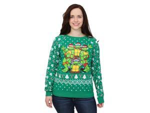 TMNT Juniors Ugly Christmas Sweatshirt