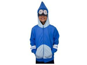 Boys Regular Show Mordecai Costume Hoodie