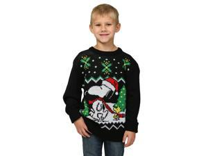 Peanuts Snoopy & Woodstock Boys Ugly Christmas Sweater