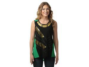 Marvel I Am Loki Juniors Asymmetric Tank Top