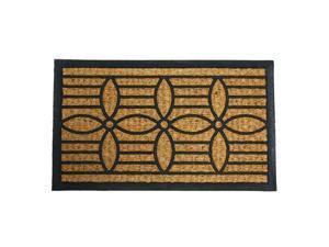 """Cordoba Outdoor Coir Door Mat - 18"""" x 30"""" Decorative Door Mat Rubber"""