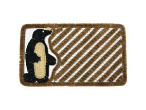 "Penguin Outdoor Scraper Door Mat - 18"" x 30"" Coir Boot Brush Scraper"