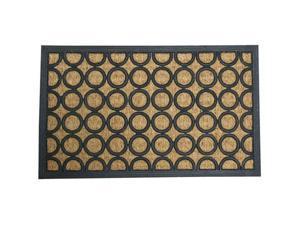 """Tranquil Pattern Rubber Coco Door Mat - 18"""" x 30"""" Outdoor Doormat - OEM"""