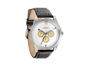 House of Marley Billet Black Leather Strap Iron Watch WM-FA005-IO