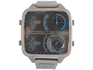 Diesel Mr. Daddy - Square 4 Time Zone Gunmetal Men's Watch DZ7284