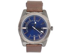 Diesel Men's DZ1598 Good Company NSBB Brown Leather Strap Blue Dial Watch