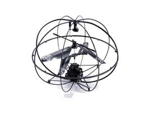 Hype Crash-Proof Sphere Robotic UFO Vehicle Remote Control RC Helicopter- Black