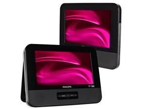"Philips PD9012/37 Dual 9"" Widescreen Travel Portable Car DVD Player - Black"