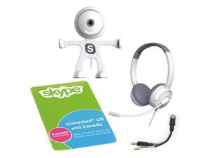 Binatone TALK-5365-C 3 Month Unlimited Skype Subscription Card w/Free Binatone Webcam & Headset - White
