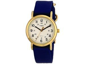 Timex T2P475 Weekender Slip Thru Mid-Size Analog Watch w/ Navy Nylon Band