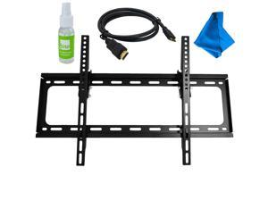 "Fino FT64K2 Large Tilt Wall Mount Kit for 30""-65"" TV w/ Screen Cleaner and 6ft HDMI Cable"