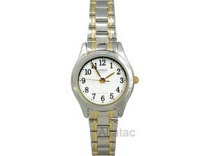 Casio LTP-1275SG-7B Women's Two-Tone Analog Dress Watch w/ White Numbered Dial