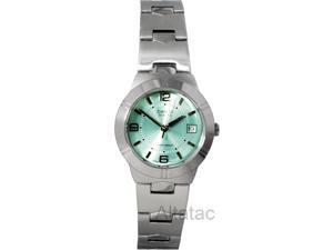 Casio Ladies Stainless Steel Round Quartz Dress Green Dial Watch - LTP-1241D-3A