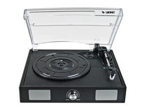 VIBE Sound USB Turntable/Vinyl to MP3 Audio Record Player w/ Built-in Speakers