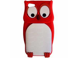 Hype Apple iPhone 5 Silicone Non Slip Protective Skin Cover Cell Phone Case Red Owl