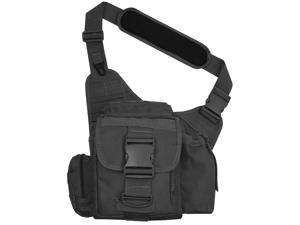 Every Day Carry Tactical Messenger Sling Shoulder Bag w/Pistol Pocket - Black