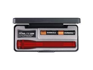 Maglite 22037 Mini 97-Lumen LED 2-Cell AA Flashlight - Presentation Box - Red