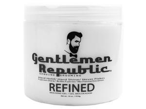 Gentlemen Republic 16oz Grooming Hard Hold & Shine Refined Mold Hair Styling Gel