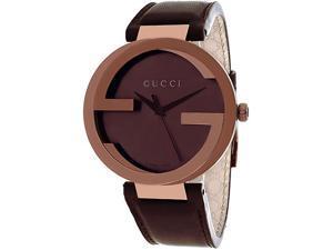 Gucci Men's G-Interlocking Watch Quartz Mineral Crystal YA133207