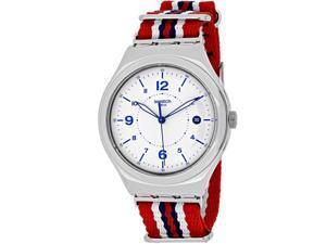 Swatch Men's Irony YWS407 Multicolor Nylon Swiss Quartz Watch with White Dial