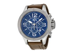 Armani Exchange AX-1505 Chronograph Blue Dial Stainless Steel Case Leather Watch