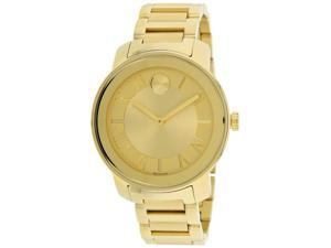 Movado 3600197 Womens Watch, Gold Face On Gold Tone Stainless Steel Band
