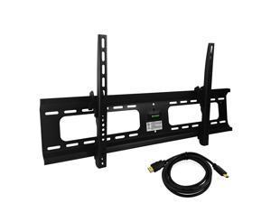 Ultra-Slim 37-70 Inch LED/LCD VESA Flat TV Tilting Wall Mount & HDMI Cable