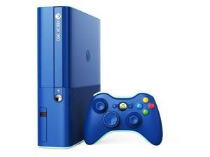 Microsoft Xbox 360 E Blue 500GB Video Game Console & Wireless Controller Bundle