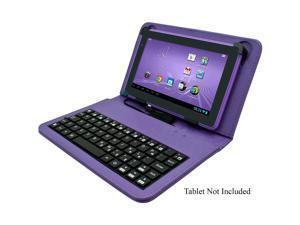 "Digital2 ACK700A 7"" Tablet Leatherette Folio Case w/microUSB Keyboard-Purple"