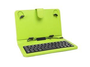"""Digital2 ACK700 7"""" Tablet Leatherette Folio Case Cover w/microUSB Keyboard-Green"""