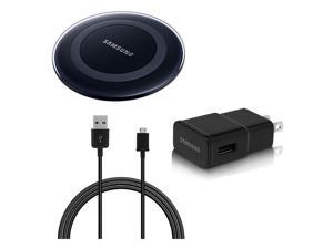 Samsung OEM Original Qi Wireless Charging Pad, Wall Adapter and USB Cable