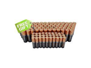 Duracell (100AA & 100AAA) Duralock Copper Top Alkaline Batteries W/ Free Gift