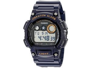 Casio #W735H-2AV Men's Viabration Alarm Chronograph Countdown Timer Sports Watch