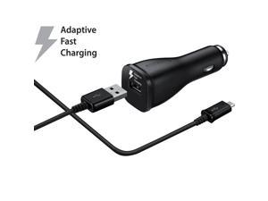 Samsung OEM Original USB Quick Charge 2.0 Fast Charging Car Adapter and Cable