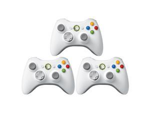 3 Pack Microsoft Official Xbox 360 Wireless Remote Controller - White