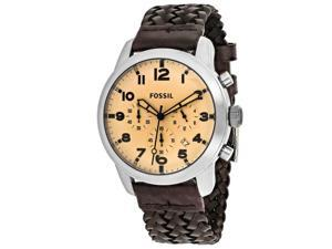Fossil Men's Pilot 54 Watch Quartz Mineral Crystal FS5178