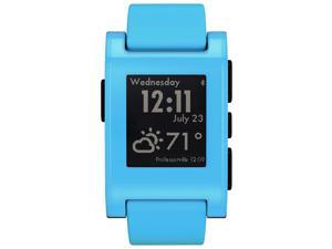 Pebble Classic Bluetooth Smartwatch - Compatible with iOS and Android - Blue