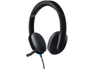 Logitech H540 Plug & Play USB Wired Stereo Headset w/Boom Microphone - Black