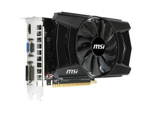 MSi GeForce GTX 750 Ti 2GB GDDR5 PCIe DVI/VGA Video Card w/HDMI & HDCP - N750Ti-2GD5/OC