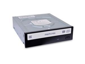 Memorex 24x Internal DVD±RW CD-RW Fast  SATA Drive - Black/White - MRX-550L