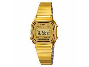 Casio Women's LA-670WG-9D Gold Stainless-Steel Quartz Casual Digital Watch