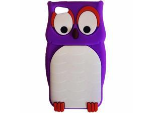 Hype Apple iPhone 5 Silicone Non Slip Protective Skin Cover Cell Phone Case Purple Owl