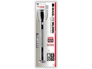 Maglite 625 Lumens LED Multi Mode & Strobe Flashlight - ML300L-S3106 - Silver
